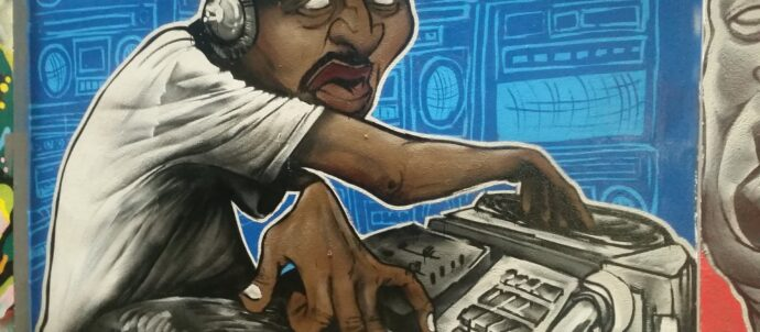 DJ graffiti art